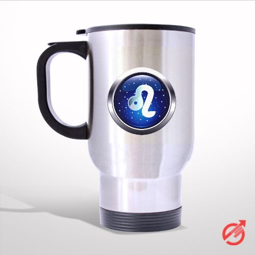 Zodiac Leo Travel Mug