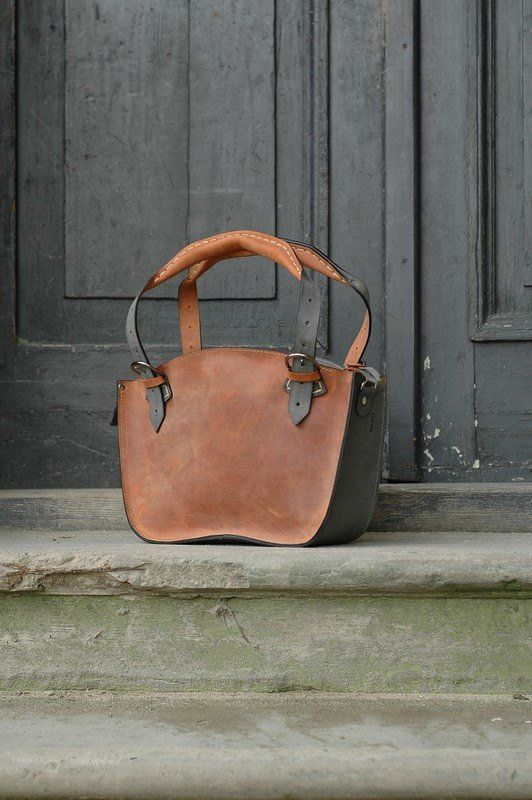 d5310d97b2e20d Ginger Tote Gray Bag Leather handmade Shoulder Bag with Clutch Set ...