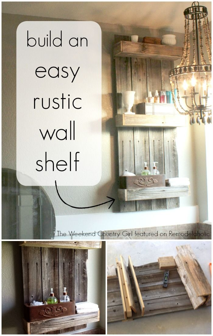 17 Best Ideas About Rustic Wall Shelves On Pinterest