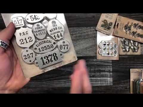 Facebook Live with Tim Holtz:  new 2018 product debut Idea-ology and Ass...