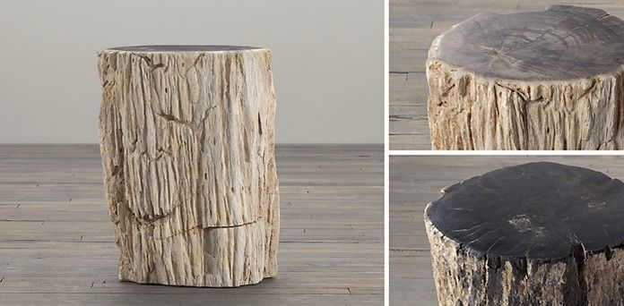 Petrified Wood Stump Occasional Table Collection | Restoration Hardware