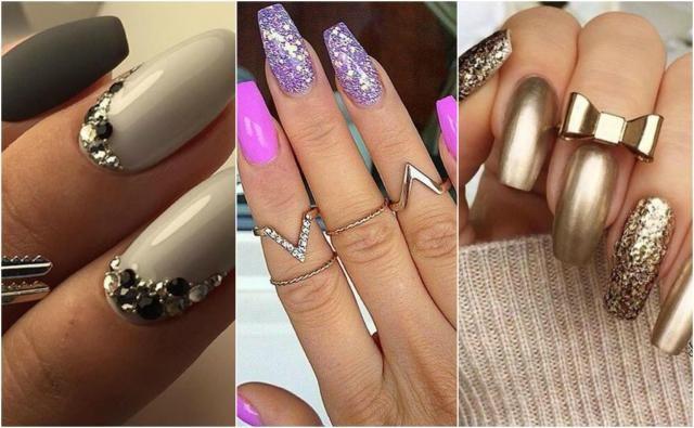 Paznokcie 2017: propozycje wzorów dla długich paznokci