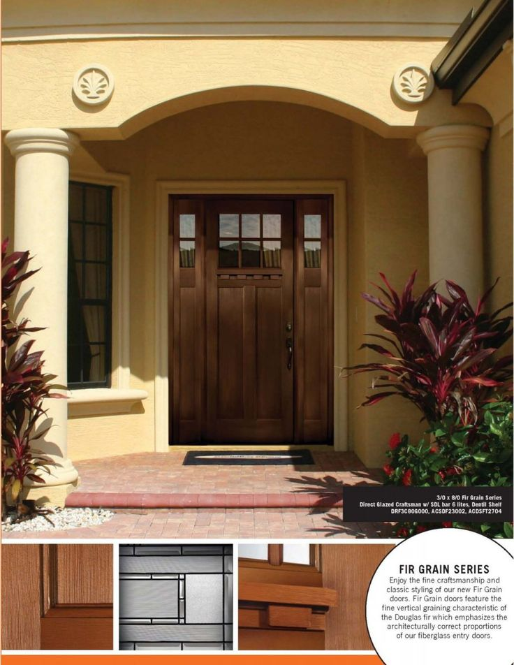 single entry door with sidelights | craftsman door installed with clear glass & 17 best Stuff to Buy images on Pinterest | Entry door with ... Pezcame.Com