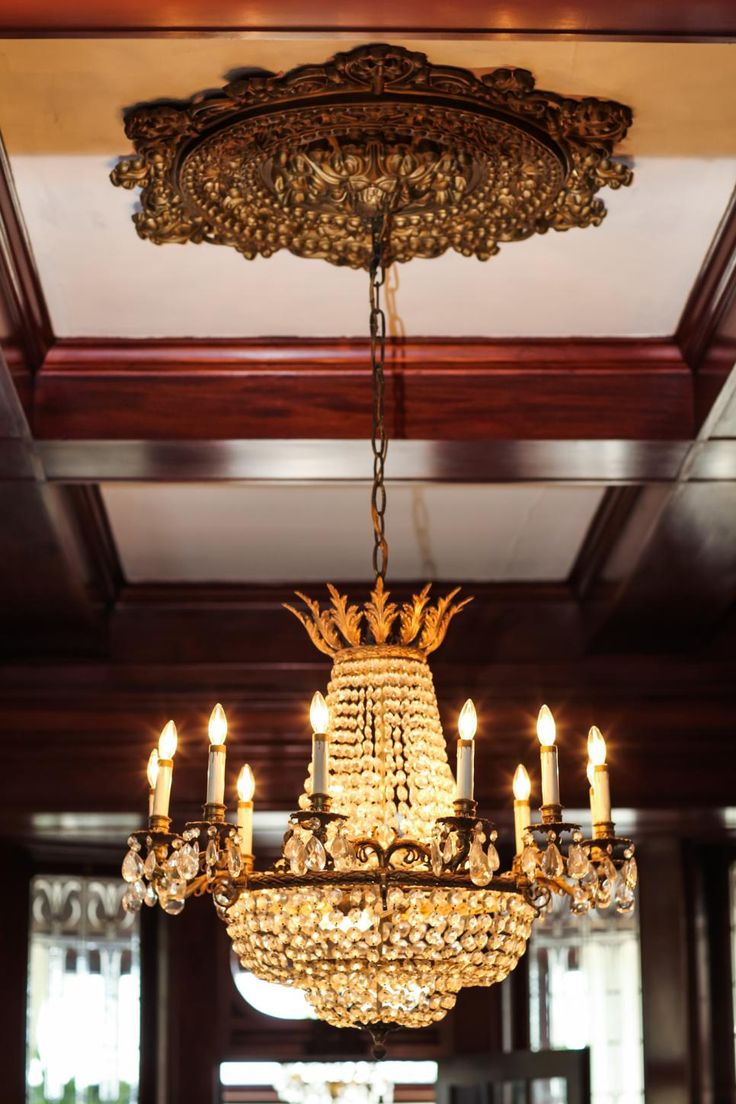 Rehab addict 1904 mansion - As Seen On Diy Network S Rehab Addict The Original Ceiling Medallion And Chandelier Remain In