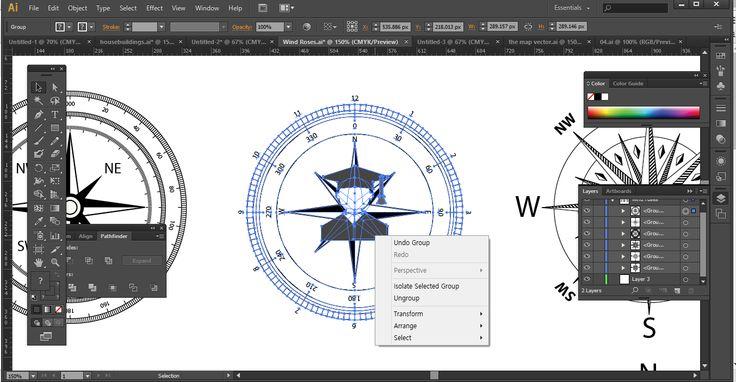 Illustrator - compass vector