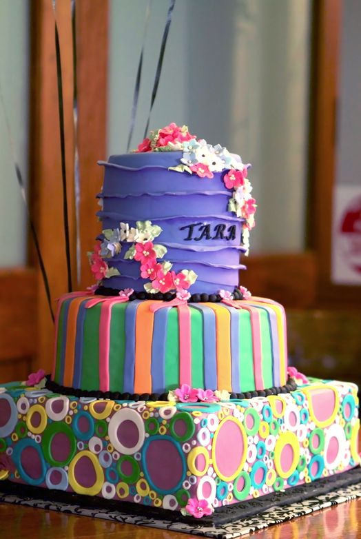 17 Best Ideas About Bright Birthday Cakes On Pinterest