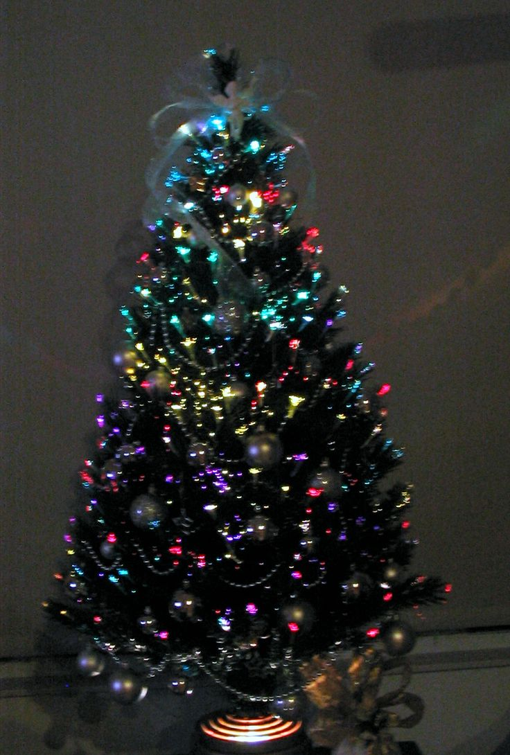 White Fiber Optic Christmas Trees