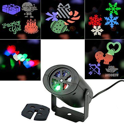 Bangcool Projecteur de Noël Projecteur de nuit tournant à la lumière nocturne 5 pièces Diapositives de modèle: Le câble n'est pas très…