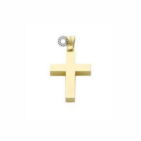 Ένας κλασικός βαφτιστικός σταυρός για αγοράκι του οίκου ΤΡΙΑΝΤΟΣ από χρυσό Κ18 μασίφ σε γυαλιστερό φινίρισμα | Σταυροί βάπτισης ΤΣΑΛΔΑΡΗΣ στο Χαλάνδρι #βαπτιστικοί #σταυροί #βάπτισης #Τριάντος #αγόρι  ΝΟΜΊΖΩ ΚΆΤΙ ΤΈΤΟΙΟ ΘΈΛΩ ΓΙΑ ΤΟΝ ΔΙΚΌ ΜΟΥ