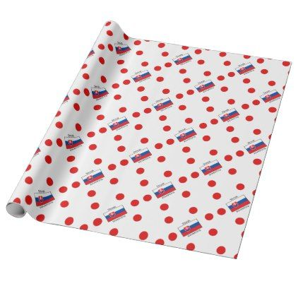 Slovak Language And Slovakia Flag Design Wrapping Paper - craft supplies diy custom design supply special