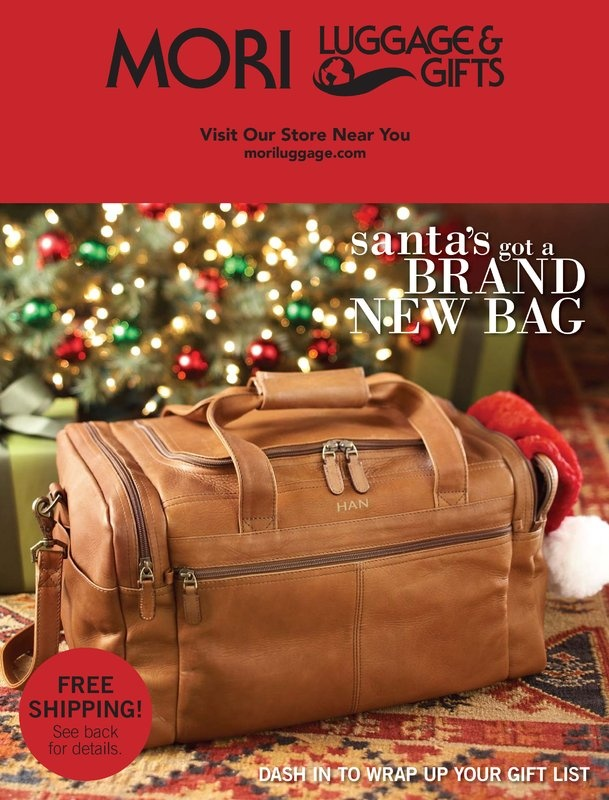 Mori Luggage & Gifts Holiday 2012 Online Catalog. Great holiday gifts for everyone on your list!