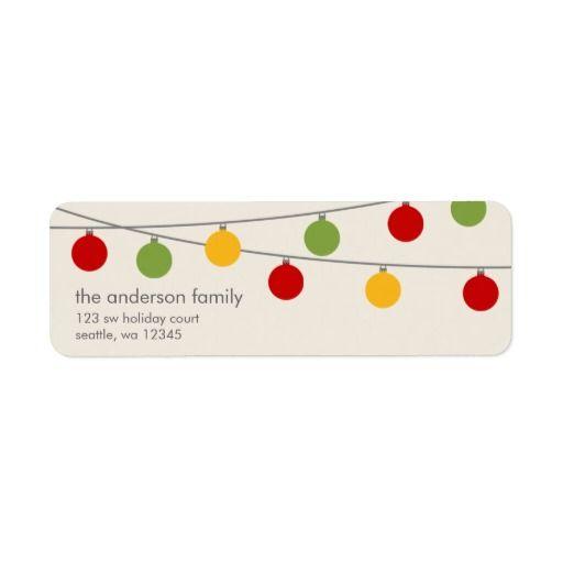 Modern Holiday Christmas Ornaments Label Holidays