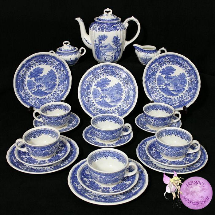 Villeroy Amp Boch Burgenland Blau Teeservice My Polyvore