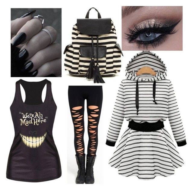 """""""Fem human Laughing Jack/Jill"""" by evening13nightshade ❤ liked on Polyvore featuring beauty and Poverty Flats"""