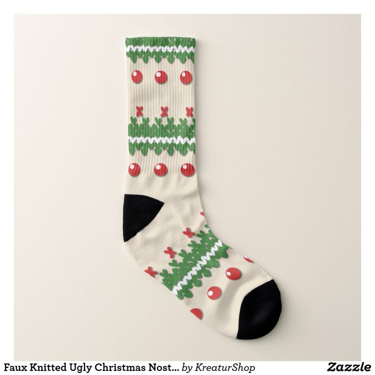 Faux Knitted Ugly Christmas Nostalgic Cream Design