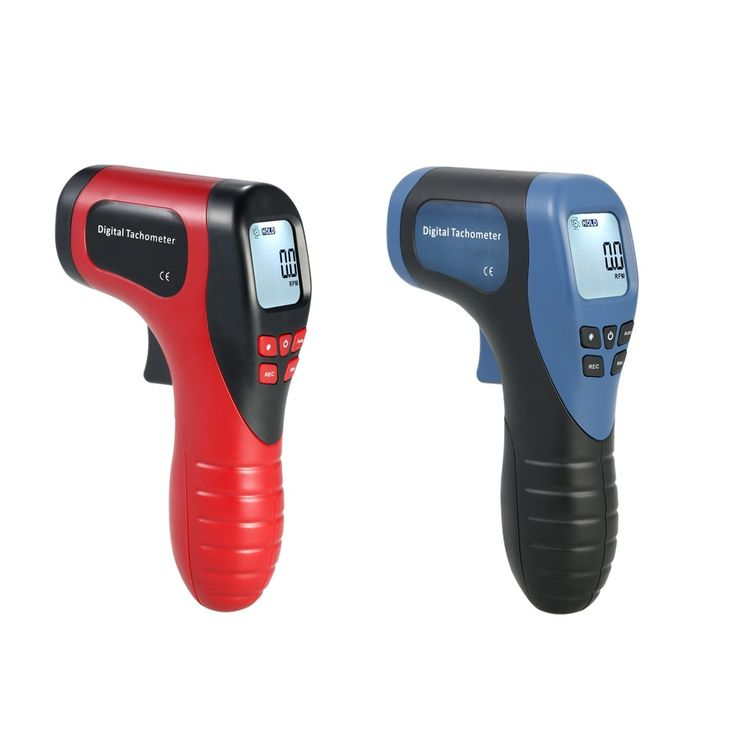 Handheld Digital LCD Photo Tachometer Laser Non-Contact Tach Sales Online blue - Tomtop