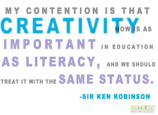 Image result for creativity is as important as literacy