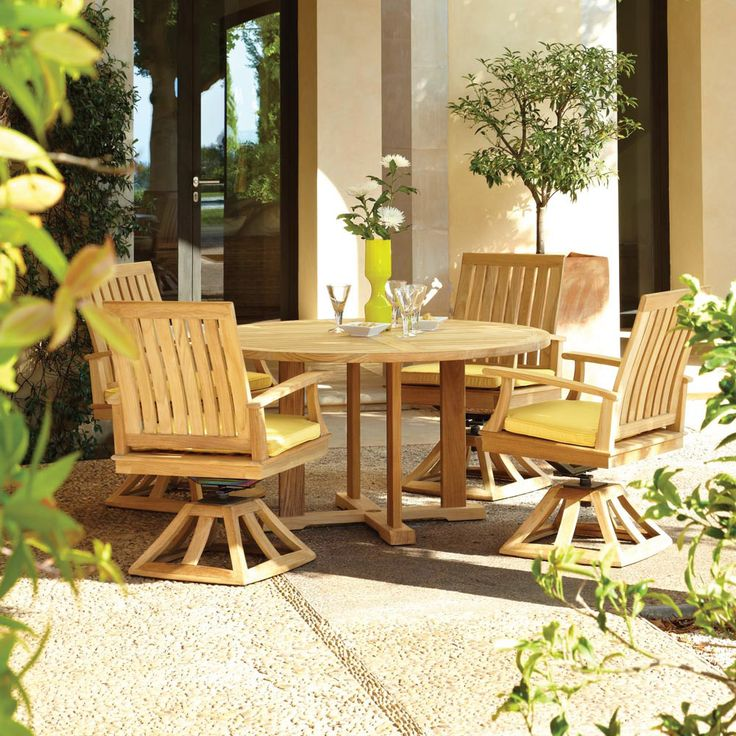 Bristol Round Dining Table  Teak wood for durability and weather resistance. 128 best images about Gloster Outdoor Furniture on Pinterest
