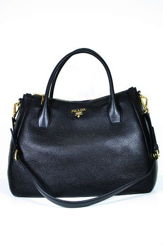 This authentic Prada Black Leather BN2318 Handbag comes directly from  designer boutiques - Prada Black Leather