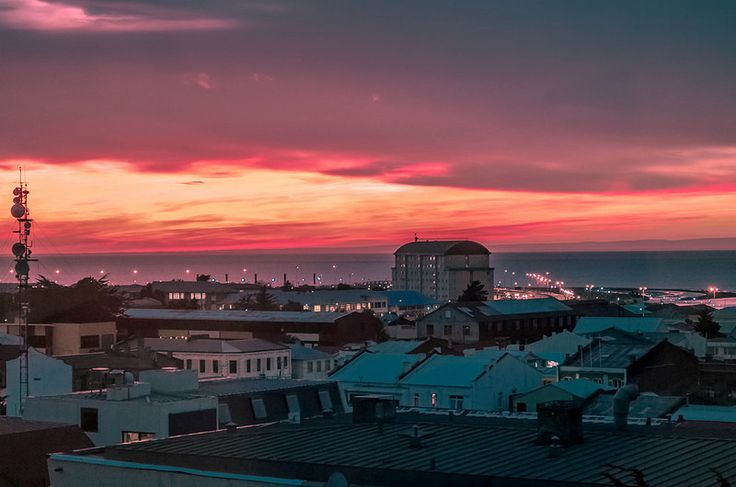 """Sunset on the Strait of Magellan"" - Punta Arenas, Chile 
