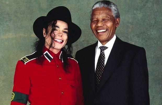 Michael Jackson & Nelson Mandela ♛ www.pinterest.com/WhoLoves/Nelson-Mandela ♛ #rip #nelsonMandela