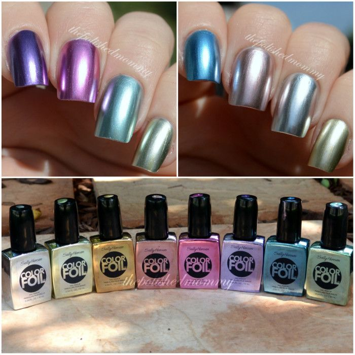 Sally Hansen Color Foils  ::  These pics look pretty nice, but another review said they're not very smooth and they're hard to work with and they show your nail's every imperfection.