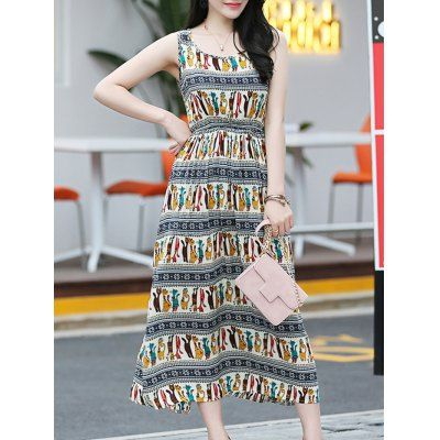 Elegant Colorful Animal Print Long Dress For Women #shoes, #jewelry, #women, #men, #hats, #watches
