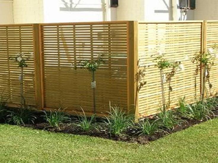 Beautify the Minimalist Living with Horizontal Wood Fence : Prefab Horizontal Wood Fence