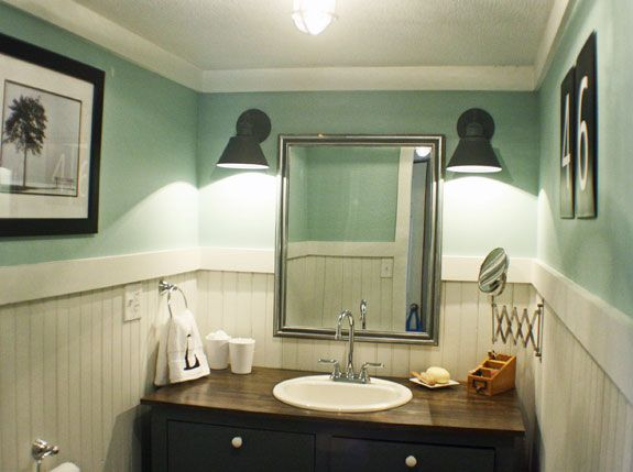 The Shabby Creek Cottage - farmhouse interiors re-designed: Bathroom Makeover Reveal