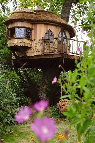 Wonderful Tree House Photo. - Bilder Land