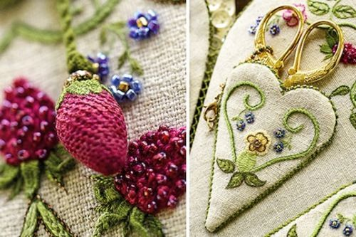 Carolyn Pearce Strawberry Fayre heart etui 2: collecting the materials together | Janet Granger's Blog