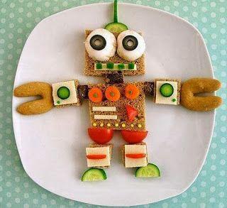 Desayunos para niños con figuras divertidas ~ cositasconmesh