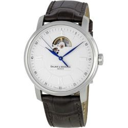 Cheap Baume and Mercier Classima Executives Steel XL Mens Watch 8688 online - Polished steel case with a dark brown leather strap. Fixed stainless steel bezel. Silver guilloche dial with skelandon display blued steel hands and alternating Roman numeral and stick hour markers. Minute markers...