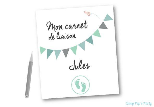 Carnet de liaison nounou/parents A télécharger gratuitement www.babypopsparty.com