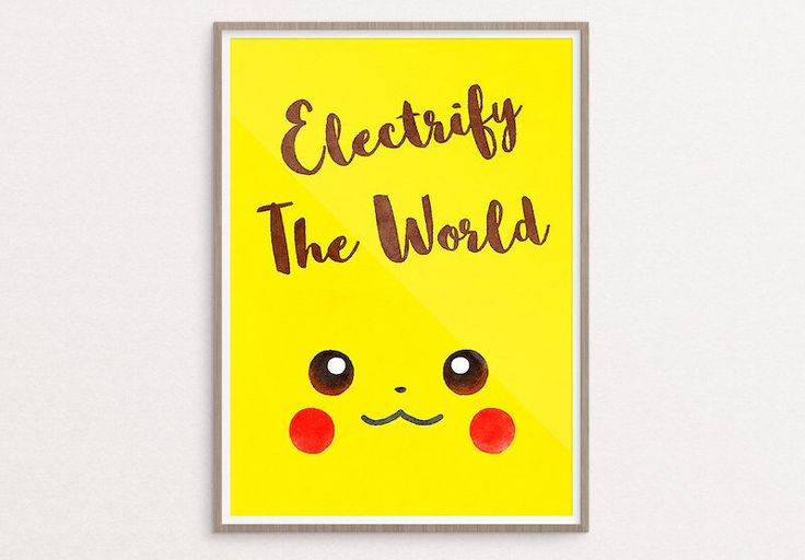 PIKACHU POSTER INSPIRATION | Pokemon Wall Art Artwork Motivational Quote Cute Go Printable Anniversary Poster | Download or Free Shipping by ecolorty on Etsy https://www.etsy.com/listing/455112010/pikachu-poster-inspiration-pokemon-wall