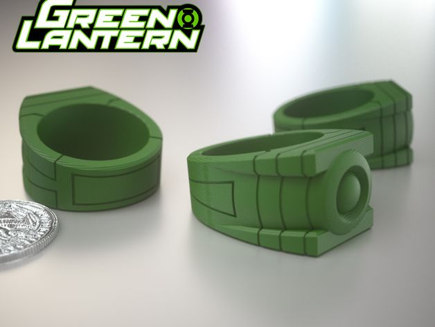 Another Friend of mine wanted a Green Lantern Ring. So Here's the ring. Ta! Da!!!   Size 9