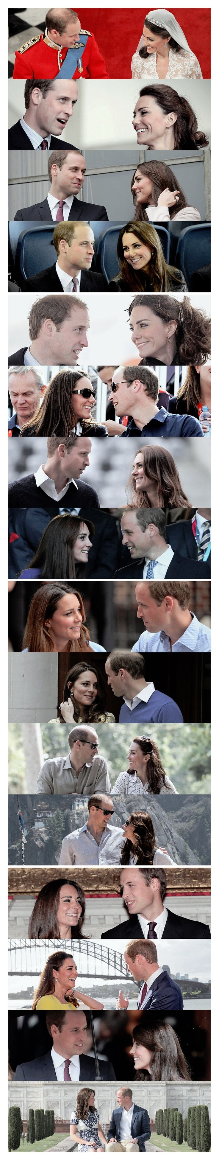 William & Catherine: The way they look at one another ❤
