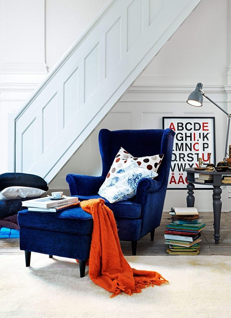 Ah yes, a blue velvet armchair in your reading breakfast nook ensures you never have a bad morning.