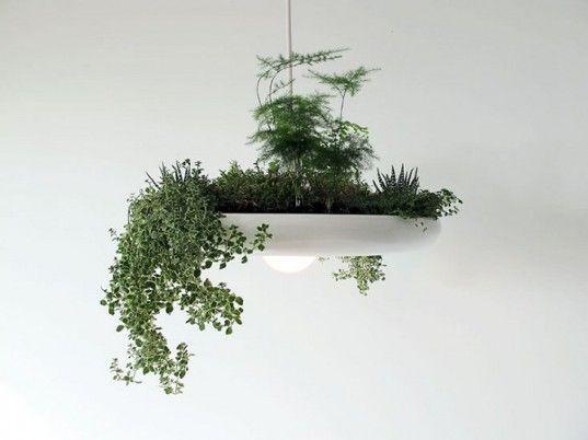 Ryan Taylor's Futuristic Babylon Light Doubles as an Indoor Garden Planter