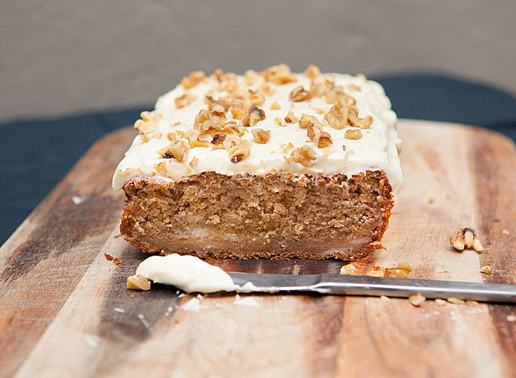 Delicious moist banana cake with cream cheese frosting