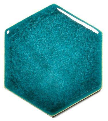 Blue Ceramic Handmade Wall & Floor Tile - Hexagon