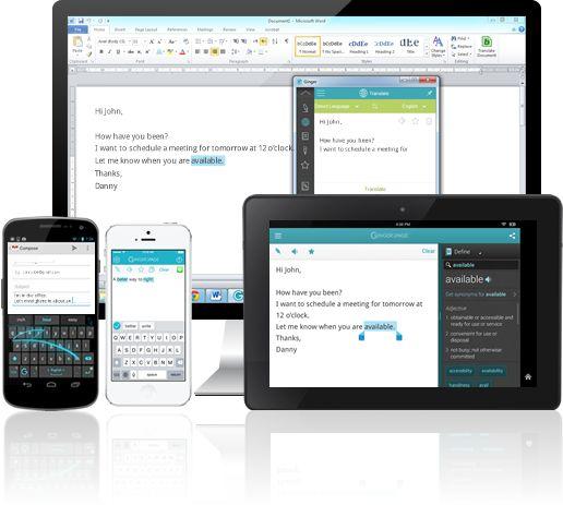 Ginger Software | Desktop & Mobile Keyboard + Writing App - Make No Mistake! Write better and faster with Ginger Page writing app on your desktop and mobile!