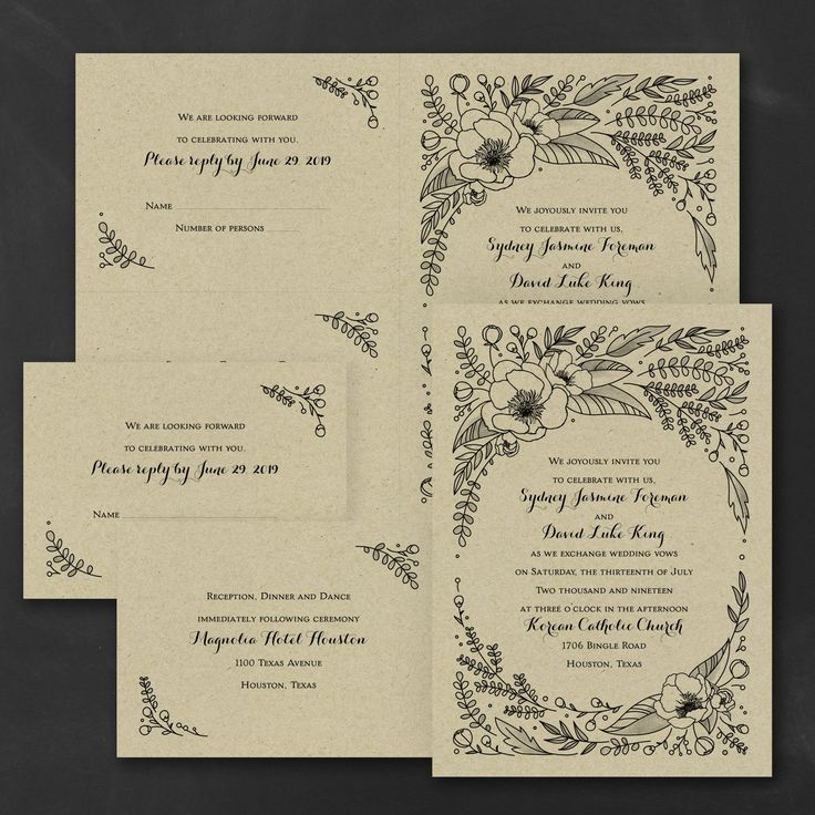 sending wedding invitations months before%0A Nothing more romantic than being surrounded by flowers  Choose the ink  color for this affordable  kraft paper sep  u    n send wedding invitation for  style