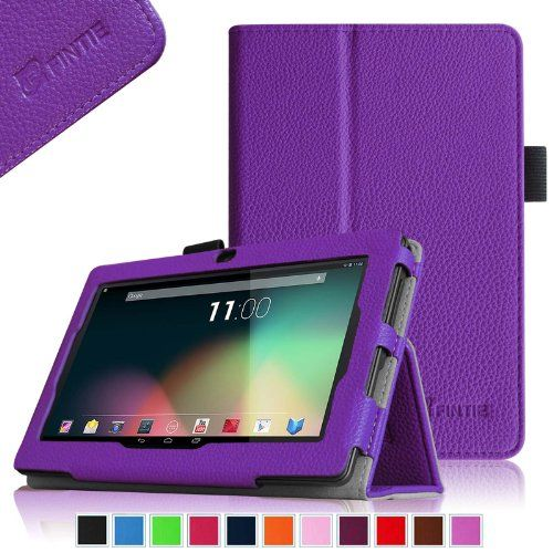 "Fintie Premium PU Leather Case Cover for 7'' Android Tablet - Dragon Touch Y88, A13 Q88, Matricom G-Tab Nero CX2, ProntoTec 7 Inch Q8, Tagital 7"" A23, NORIA T2 7"", Zeepad, Chromo, Alldaymall, Noria JR 7"" [Dual Camera Version] - Violet - http://www.kidstrument.com/instrument-accessories/fintie-premium-pu-leather-case-cover-for-7-android-tablet-dragon-touch-y88-a13-q88-matricom-g-tab-nero-cx2-prontotec-7-inch-q8-tagital-7-a23-noria-t2-7-zeepad-chromo-alldaymall-nori"