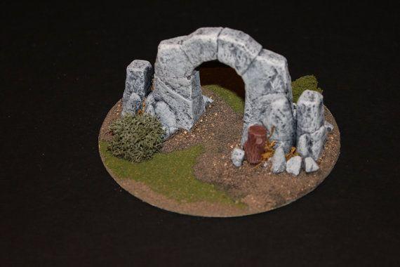 Game Terrain - Stone Portal for Warhammer 40K, War Machine, D, etc...