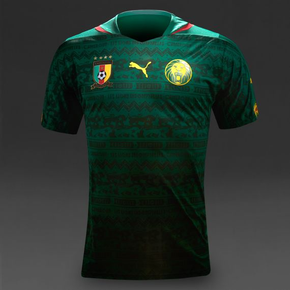 Puma Cameroon 2014 Home Replica SS Shirt - Green