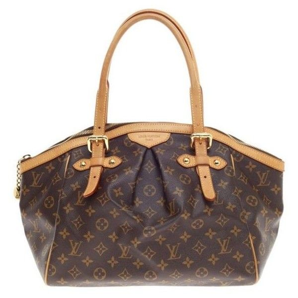 Pre-Owned Louis Vuitton Tivoli Gm Hand Bag ($1,024) ❤ liked on Polyvore featuring bags, handbags, tote bags, brown, purse tote, white canvas tote, monogram tote, monogram canvas tote and louis vuitton purses