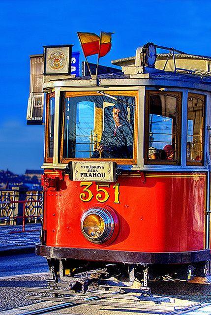 Prague Historic Tram,  Czech Republic by Edgar Barany