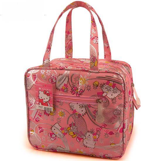 Aliexpress.com: Comprar 2015 Hot venta multiusos bolsos bolsa almacenamiento mujeres cosméticos bolsa de Hello kitty caja de almuerzo de la alta calidad de la lona bolsas de almuerzo de bolsas de bronceado fiable proveedores en HELLO KITTY FACTORY PRICE RETAILS STORE