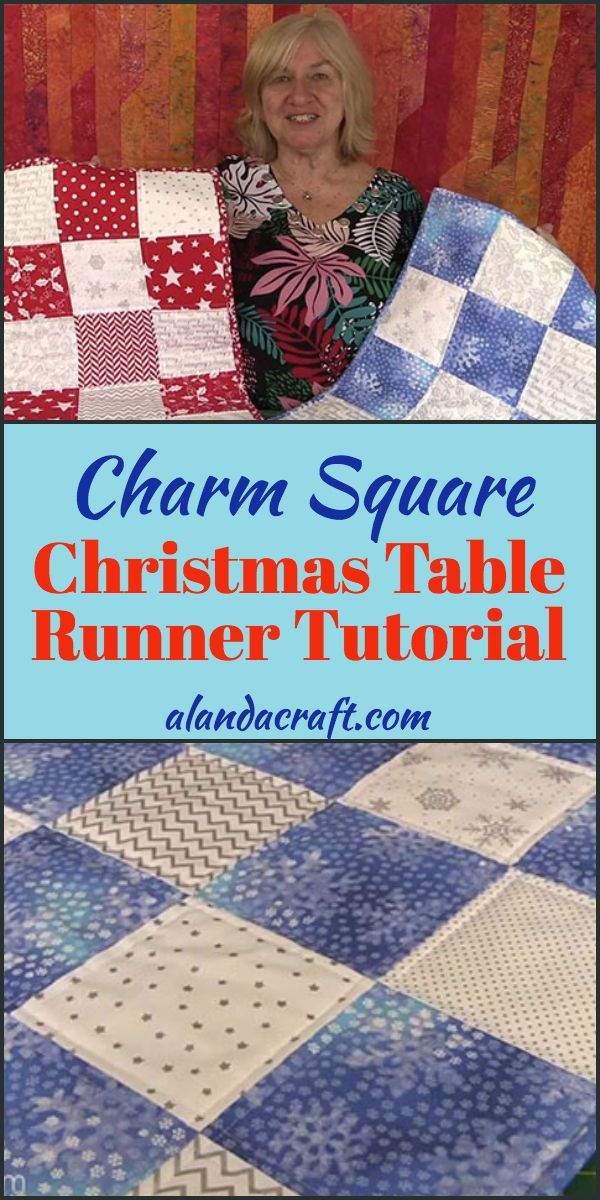 Charm Square Christmas Table Runner Tutorial Christmas Table Runner Pattern Christmas Quilts Quilted Table Runners Patterns